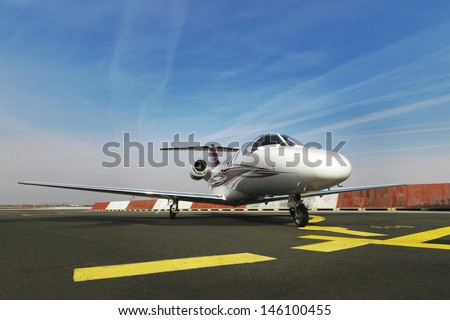 Small business jet plane - stock photo