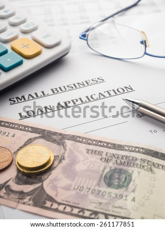 small business loan application - stock photo