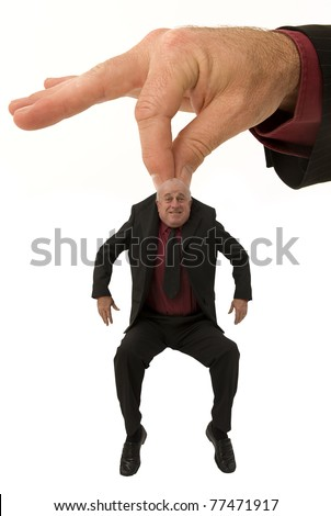 Small business man gets a lift from a helping hand