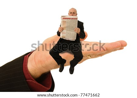 Small business man getting a helping hand - stock photo