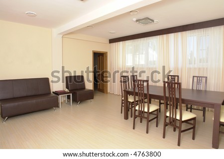 Small business meeting room in modern hotel