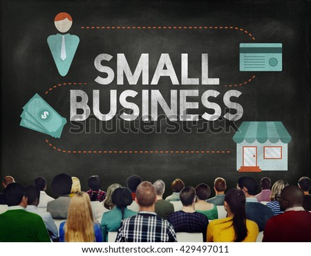 Small Business Niche Market Products Ownership Entrepreneur Concept - stock photo