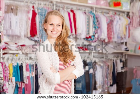 small business owner or assistant - stock photo