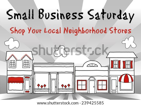 Small Business Week, Main Street USA, event honors and celebrates American small business owners and entrepreneurs, gray ray background. - stock photo