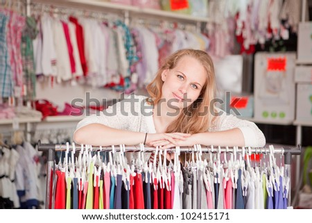 small business woman shop owner - stock photo
