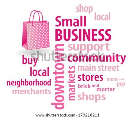Small Business Word Cloud Support Local Stock Vector ...