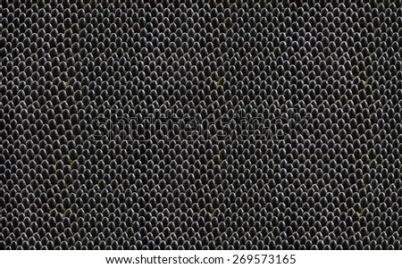 Small caliber lead bullets grey color background - stock photo