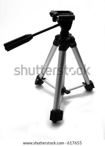 Small camera or camcorder tripod - stock photo