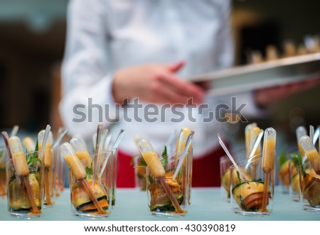 Small canapes closeup