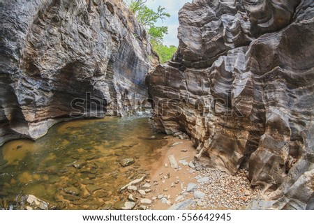 Small canyon
