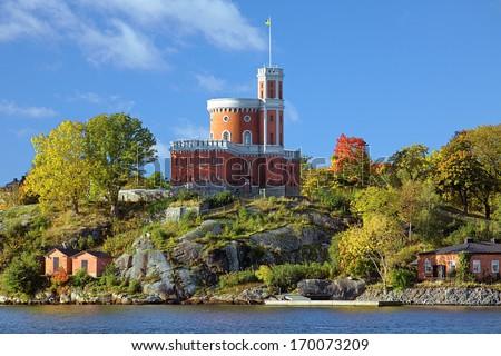 Small Castle (Kastellet) on Kastellholmen island in Stockholm, Sweden - stock photo