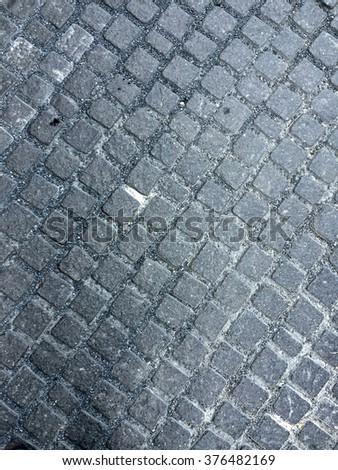 Small cement brick floor background - stock photo