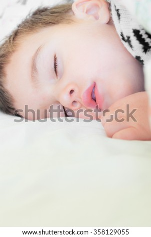 Small child sleeping