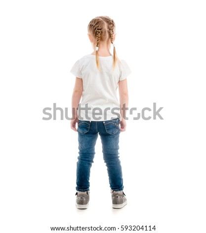 Small Child Standing Her Back Turned Stock Photo 593204114 ...