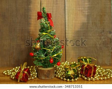 Small christmas tree     - stock photo