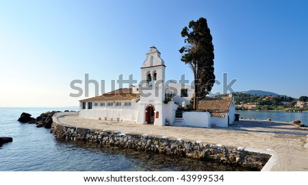 small church in corfu, greece