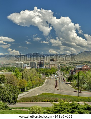 Small city of Boise Idaho famous view - stock photo