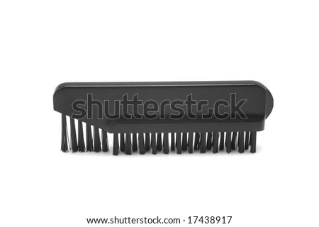 Small cleaning brush for electric shaver isolated on white