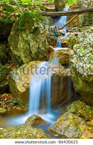 small closeup brook - stock photo