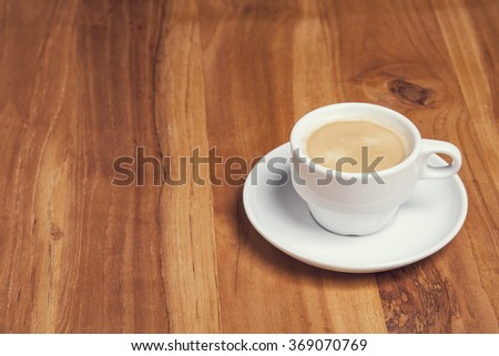 small coffee and copy space - stock photo