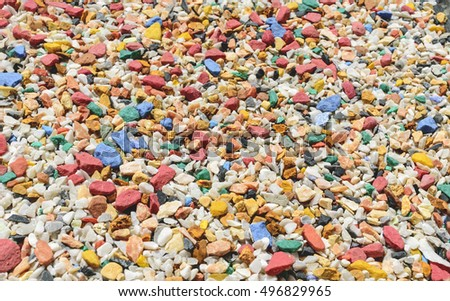Small Colorful Rocks Texture Background Pattern