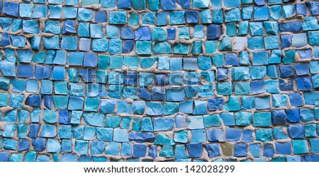 small colorful tile background - stock photo