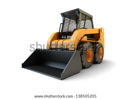 Small construction loading vehicle - stock photo