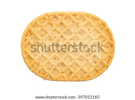 Small cookie isolated on a white background