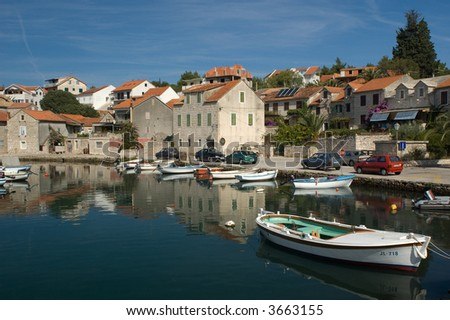 small croatian town - stock photo