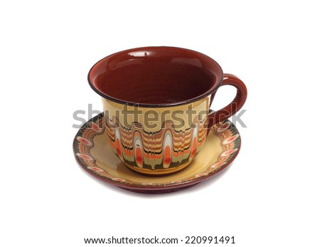 small cup of tea with a plate under it