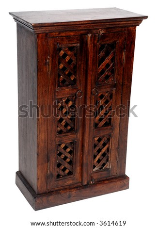 Small cupboard on clean white background. - stock photo