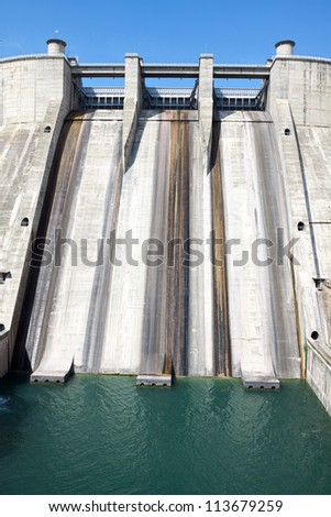 Small dam in France - stock photo