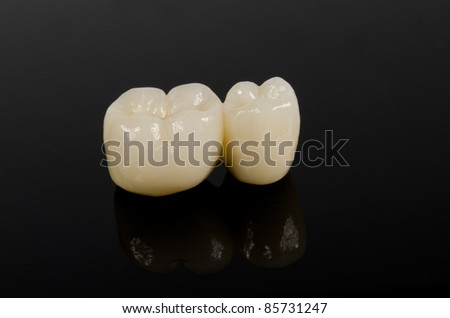 small dental bridge - stock photo