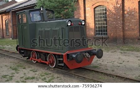 Small diesel locomotive - stock photo