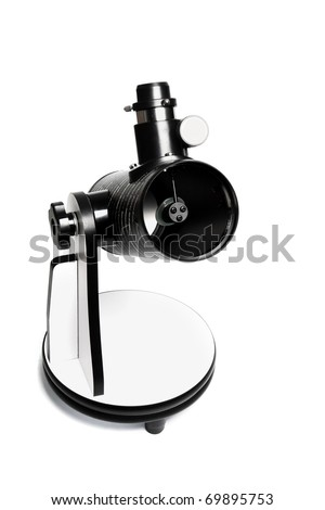 Small Dobsonian Telescope isolate on white background
