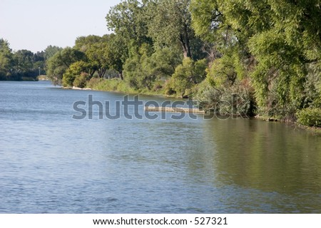 Small dock on the Missouri River