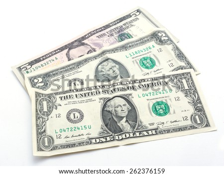 small dollar bills