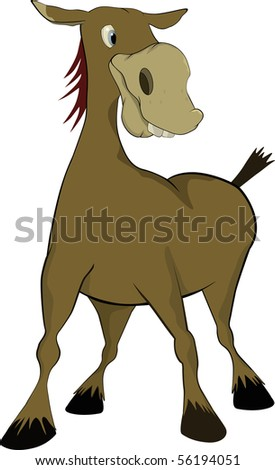 Small donkey from a children's fairy tale - stock photo