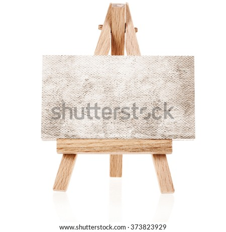 Small easel with blank canvas