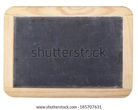Small empty blackboard in a bright wooden frame - stock photo