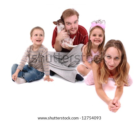 small family - stock photo
