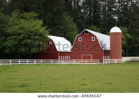 Small farms  an endangered species on the American Continent - stock photo