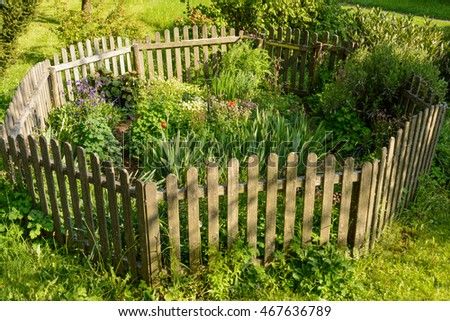 small fence in a garden
