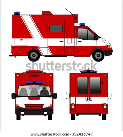 Small fire truck - stock photo