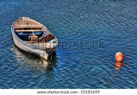 small fish boat - stock photo