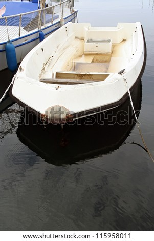Small fishing boat. Small boat. - stock photo