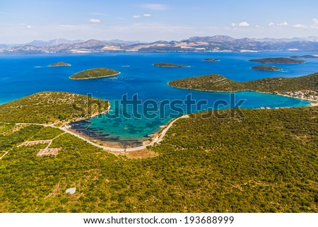 Small fishing village Drace in the centre of the Peljesac peninsula near Dubrovnik in Croatia.