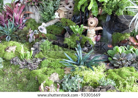 Small garden for small home - stock photo