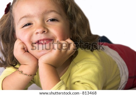 Small girl smiling - stock photo