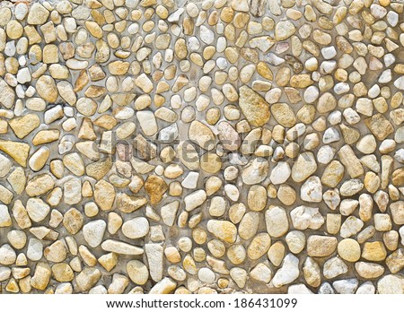 small gravel texture on the wall